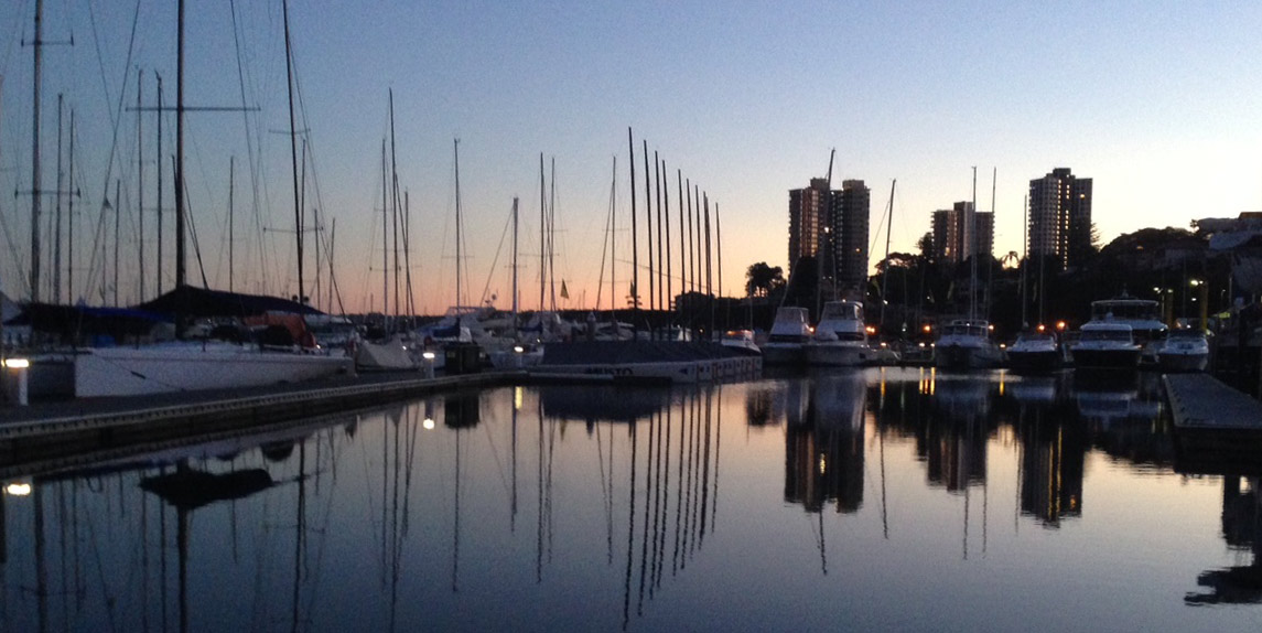Early Morning, The Cruising Yacht Club, Rushcutters Bay